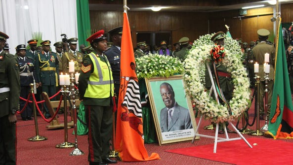 Riots have erupted following the death of former Zambian