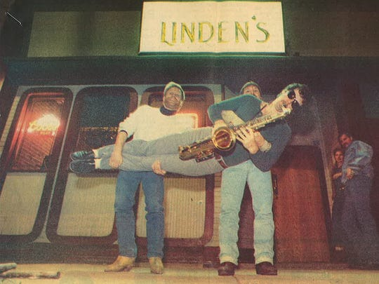 A shot outside Linden's, a longtime bar at 214 Linden