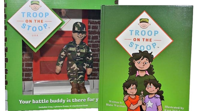 Created by Erlanger resident Blake Wayman, 32, Troop on the Stoop is the military equivalent to Elf on the Shelf.