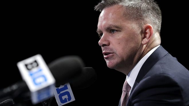 Ohio State head coach Chris Holtmann speaks at a press conference during Big Ten NCAA college basketball media day Thursday, Oct. 11, 2018, in Rosemont, Ill.