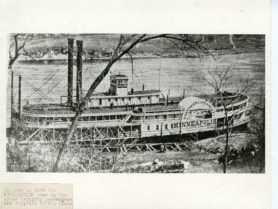 As late as 1874, the steamboat Minneapolis came up