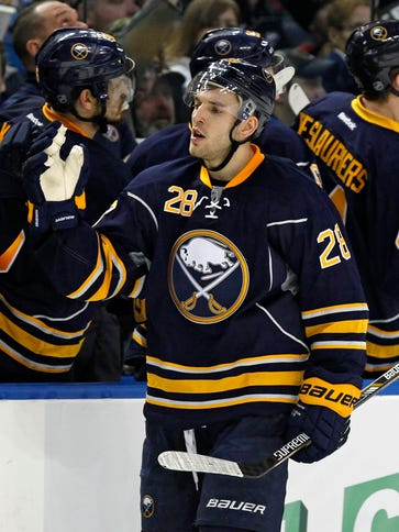 Buffalo Sabres forward Zemgus Girgensons has 15 goals