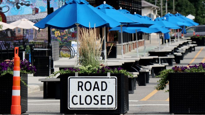 The city of Hilliard has closed off Center Street to make room for more outdoor dining at restaurants and bars. Columbus has been reluctant to do the same because of fears that practice will spread the coronavirus.