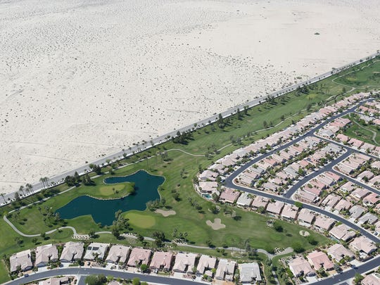 Sun City Palm Desert is adjacent to the protected Coachella Valley Preserve.