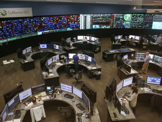 The California Independent System Operator (CAISO) runs most of the state's electric grid in real time from this operations center at CAISO headquarters in Folsom, California, seen on Dec. 16, 2016.