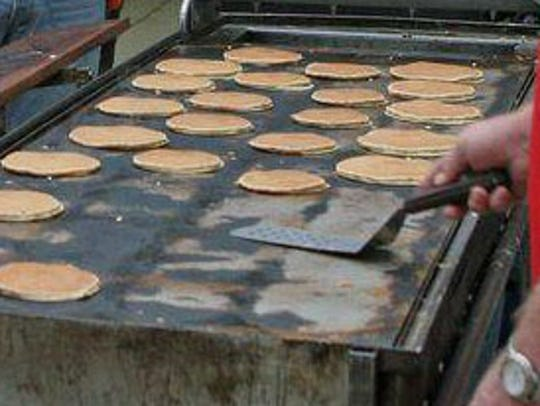 Chris Cakes of Michigan will be flipping flapjacks
