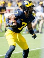Michigan receiver Tarik Black caught 11 passes for