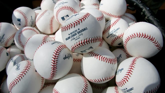 Official MLB baseballs.