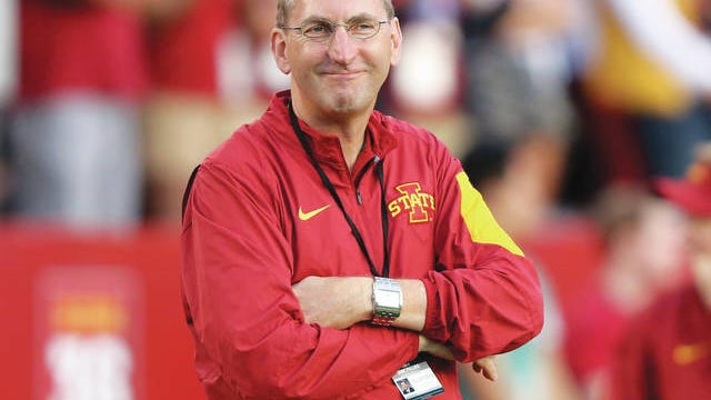 "Iowa State athletic director Jamie Pollard said he is taking ""it day by day"" whether the Cyclones will play football games as scheduled this fall due to the effects of the coronavirus. Photo by Reese Strickland-USA TODAY Sports"