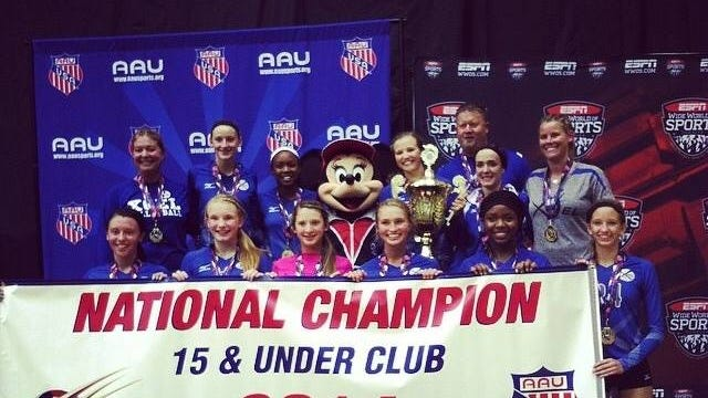 The Xcel Volleyball Performance 15X Select team won an AAU championship last month in Orlando.