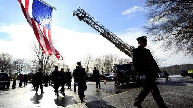 Last year, firefighters from across New York and the country came to Owego Free Academy to pay their respects to fallen Owego fire Capt. Matthew Porcari.