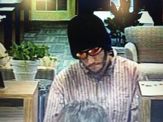 Suspect accused of robbing an Iberia Bank in Naples in March 2017.
