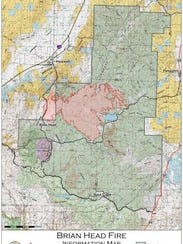 The Brian Head Fire, as of Saturday morning, June 24.