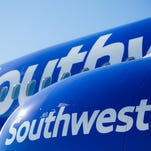 A file photo showing a Southwest Airlines Boeing 737 painted in the airline's newest color scheme.