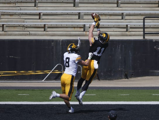 Ryan Boyle caught a touchdown pass on the last play