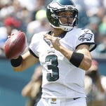 Mark Sanchez, shown in the preseason, will make his first start of the season Sunday in place of the injured Sam Bradford.