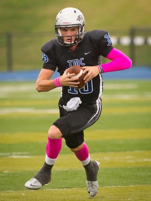 Jensen Gebhardt has become Thomas More's all-time leading passer, one of several milestones the Saints have reached this year.