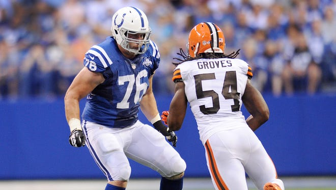 Colts lineman Joe Reitz has started at three different spots this season -- allowing just to sacks over a span of 277 snaps.