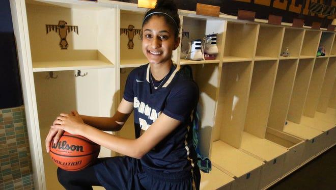 Coronado basketball player Nehaa Sohail is a Division 1 prospect.