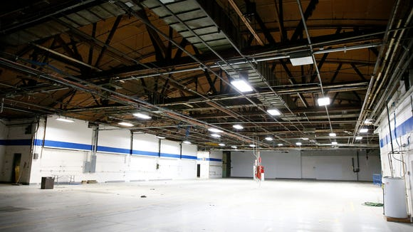 Incubator Works is transforming a large assembly room at the former Sikorsky Aircraft manufacturing plant into high bay areas for businesses. Depending on the amount of room needed, the space can fit up to six companies.
