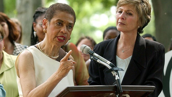 Eleanor Holmes Norton speaks at a news conference June 7, 2005.