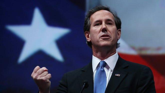 Former senator Rick Santorum ran for the 2012 Republican presidential nomination.