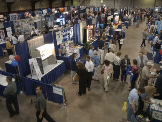 Exhibitors take part in a past Wausau Region Chamber