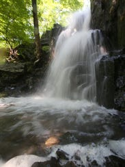 The falls at Buttermilk Falls County Park in West Nyack