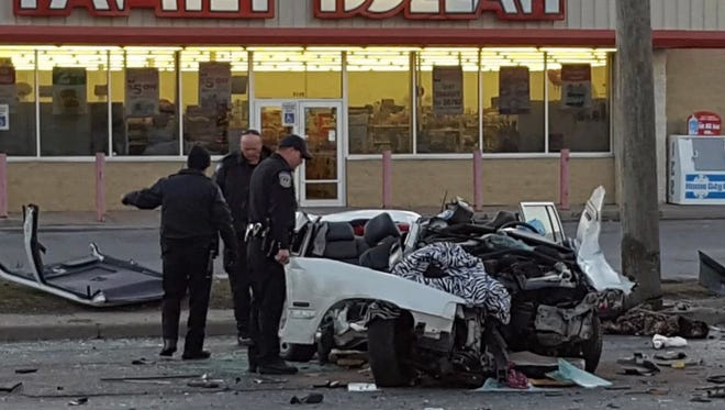 One person was killed in this crash Thursday, March 22, 2018, in the northbound lanes of Keystone Avenue near 52nd Street.
