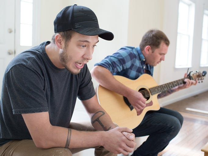 """Tyler Joel practices his song """"Long Way Home"""" with"""