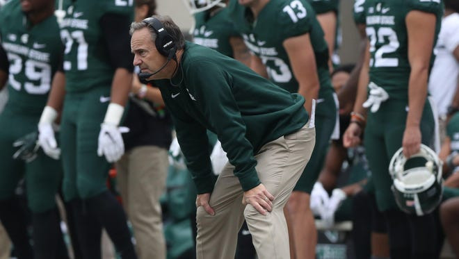 """Spartans head coach Mark Dantonio on Saturday in East Lansing after the loss to Michigan. """"You gotta be able to get 1 yard,"""" he said later of a missed opportunity."""