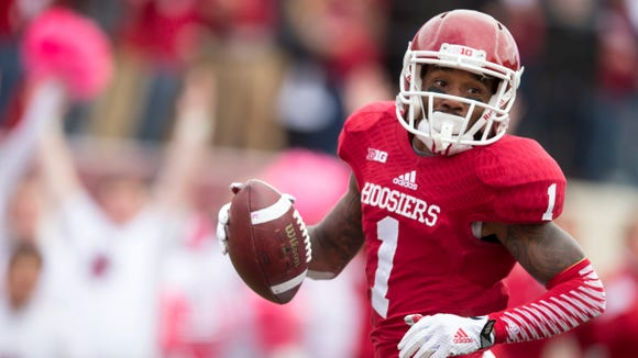 """FILE -- IU WR Shane Wynn will feature on BTN's """"The Journey"""" this week."""