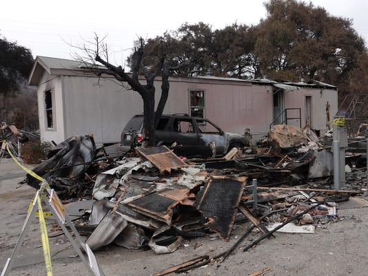 Thomas Fire Wheeler Canyon mobile homes 2.jpg