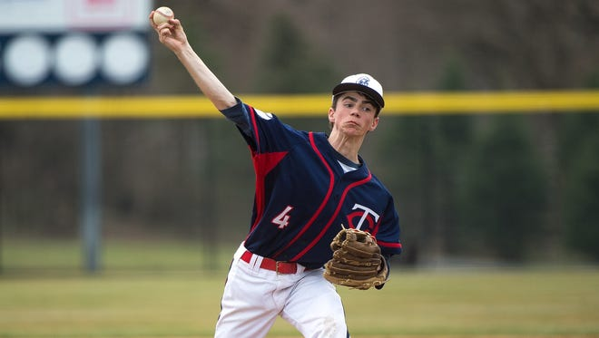 Chambersburg's Josiah Picard (4) pitches during a baseball game against Hamburg recently.