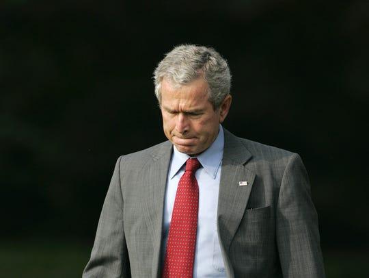 President Bush heads back to the Hurricane Katrina