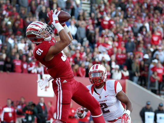 Hoosiers tight end Jordan Fuchs posses the skills needed to be a red-zone target.