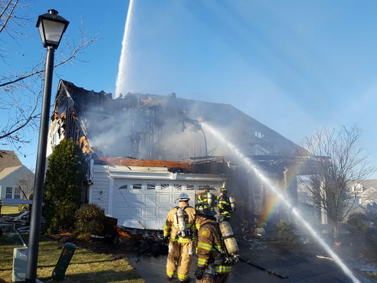 House fire in Somerset section of Franklin Township.