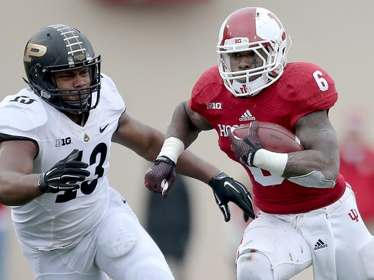 Indiana RB back Tevin Coleman (6) was named a first team All-America after a record-breaking 2014 season.