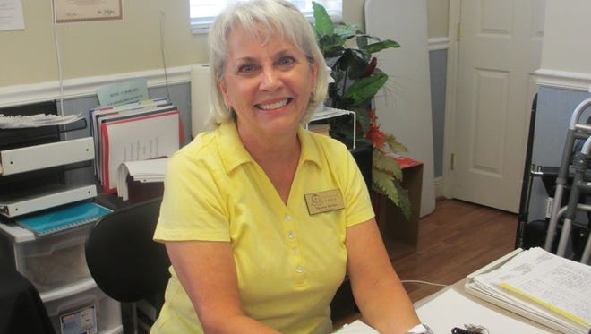 Therese Becker, of Palm City, volunteers at Love and Hope in Action 40 hours a week. She feels fortunate to be able to give back by helping those who are homeless.