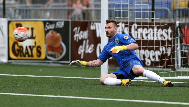 Tomas Gomez went 9-2-5 for the Rhinos last season and his 0.69 goals-against average earned him the USL's Golden Gloves Award.