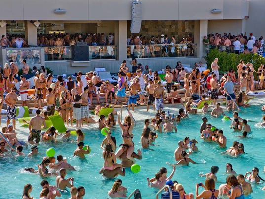 Las vegas pool party season starts 8 are toptional for Pool show las vegas november