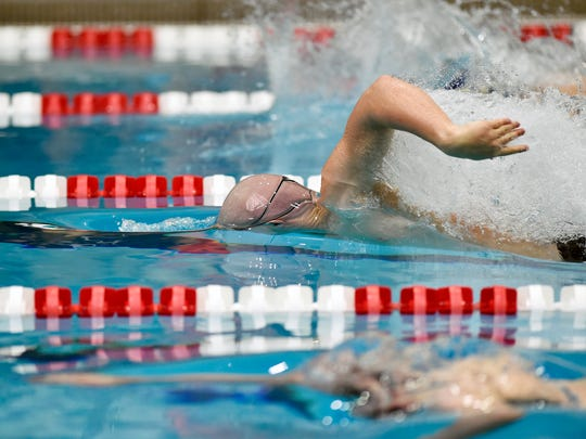 York Suburban's Aidan Fryar swims the boys' 50-yard