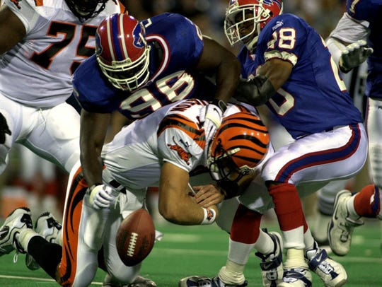 Erik Flowers (96) played two hapless seasons for the