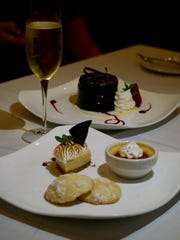 Two succulent desserts include the Key lime trio and