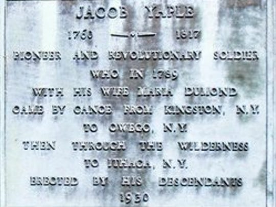 An historical marker at King Cemetery is a reminder of the Yaple family's early presence in what became Tompkins County.