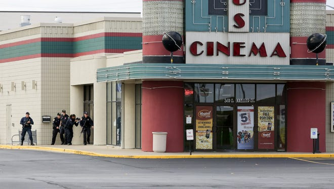The Oshkosh Police and Fire departments, along with the University of Wisconsin-Oshkosh Police Department, the Winnebago County Sheriff's Office and the Wisconsin State Patrol, participated in the training exercise at Marcus Theatres in Oshkosh. The annual exercise gives officers outside of the departments' crisis response teams the chance to collaborate like they would in a real-life emergency situation.