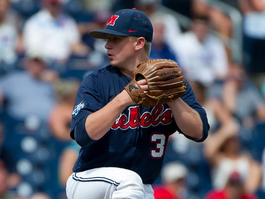 NCAA Baseball: College World Series-Mississippi vs Virginia