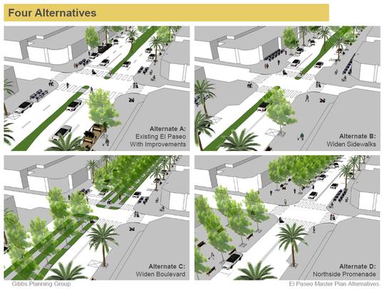 El Paseo design proposals