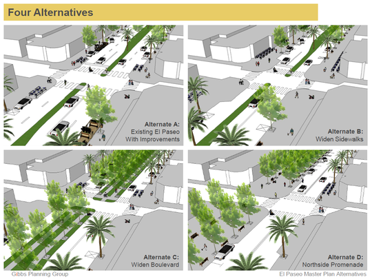 El Paseo design proposals