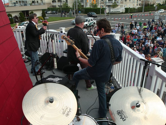 Southside Johnny and the Asbury Jukes as they play atop of the Windmill in Long Branch to raise money for the FoodBank of Monmouth and Ocean counties. May 23, 2014, Long Branch, NJ. Photo by Bob Karp